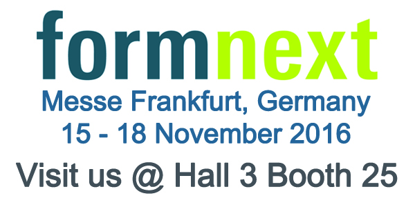 Join us at Formnext 2016 - Where Ideas Take Shape